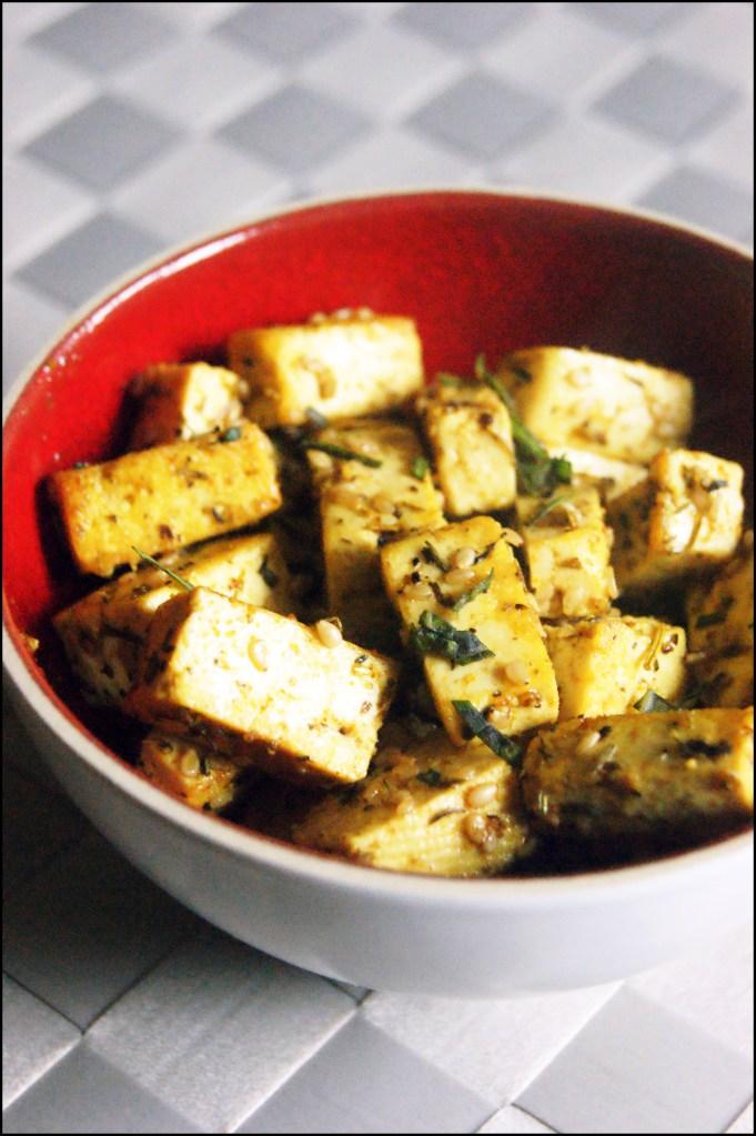 tofu grillé aux herbes et aux épices