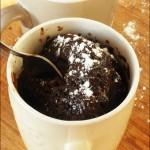 Mug cake coeur coulant au chocolat