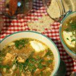 Soupe de quinoa et saumon